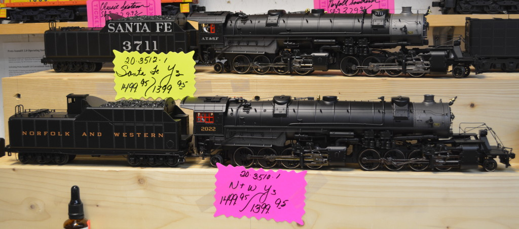 Norfolk & Western and Santa Fe Y3s